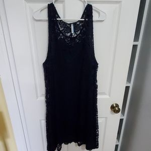 Navy lace special occasion dress